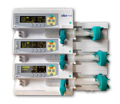 Three-channel target controlled syringe pump CP800TC